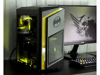 Gaming Computer PC Intel Quad Core 12GB Ram GTX 1050ti Windows 10 Home Yellow LED lights