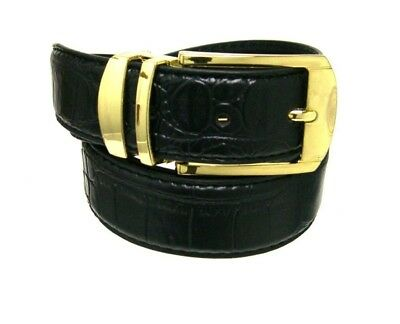 Men's Fashion Leather Belts 35 mm 1.38inch Width Croco Embossed Belt Up to 60