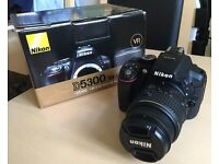 Nikon 5300 Digital SLR. 24.2MP AF-S DX VR II 18-55mm Lens.