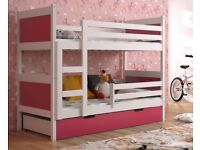 New Bunk Bed KIDS -CHILDREN -TODDLER -JUNIOR WITH MATTRESS AND DRAWERS 1