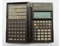 Hewlett Packard HP 19Bii business calculator, new batteries, self test ok