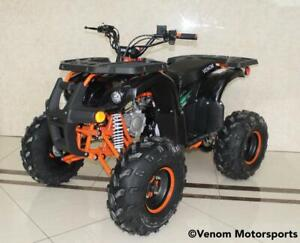 FREE SHIPPING NEW Venom Grizzly 125cc Gas Quad ATV 4 Stroke - LED Headlights + Big Tires + Reverse + 6-Months Warranty