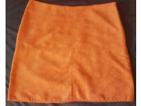 Tan suede mini skirt Size UK 10/EU 38