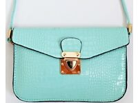 Brand New with Tags Women's / Girl's Small Turquoise Messenger Bag By Mark Tomi