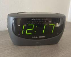 Philips Magnavox Large Display AM/FM/Weather Band Dual Alarm Clock Radio AJ3480