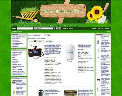 Turnkey Amazon Gardening Affiliate Store Website Script