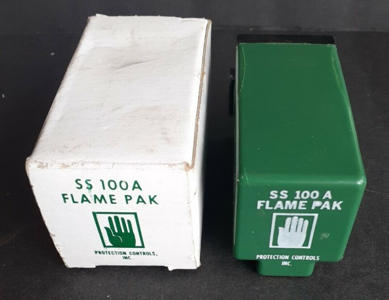 PROTECTION CONTROLS SS-100A FLAME PAK RELAY SS100A -NEW, 30 DAY WARRANTY