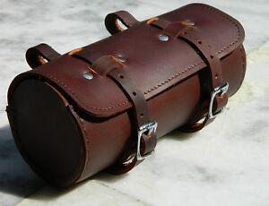 Leather Comfortable Soft Vintage Bicycle Saddle Brown Tool Bag Box Cycling