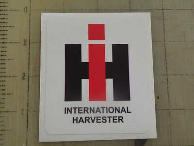 Vintage International Harvester Sticker Decal Sign 3x3.4
