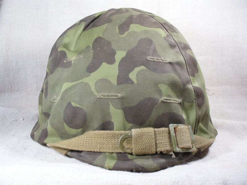 WW2 pattern M40Helmet with Camo Cover.