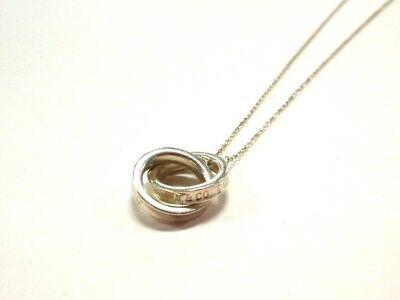 Auth TIFFANY&Co. 1837 Interlocking Circles Silver Necklace