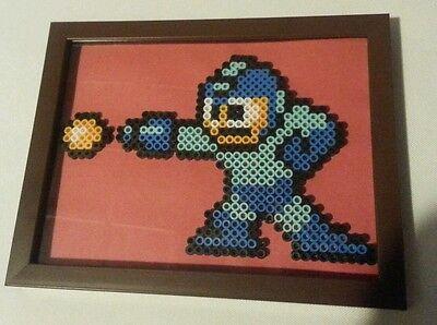 Mega Man Perler Beads in a Frames