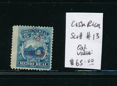 OWN PART OF COSTA RICA POSTAL STAMP HISTORY. 1 ISSUE CAT VALUE $65.00