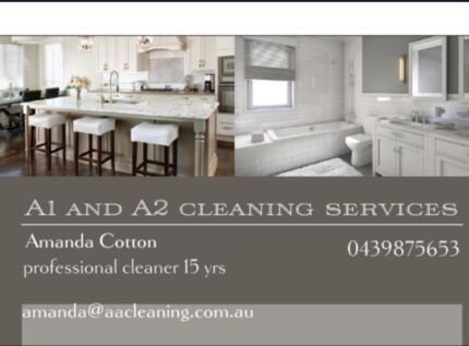 Wanted: A1 and A2 cleaning services