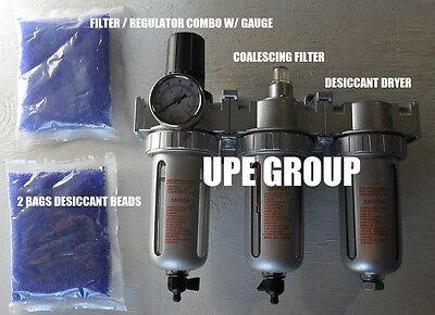 12 Compressed Air Filter Regulator Desiccant Dryer Good For Plasma Cutter