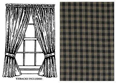 Window Curtain Lined Panel Pair 63