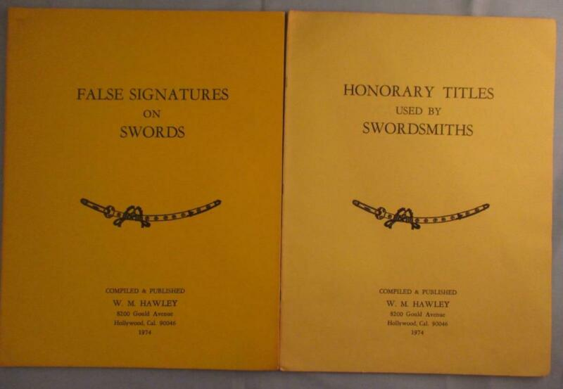 RARE Honorary Titles Used by Swordsmiths False Signatures on Japanese Swords Lot