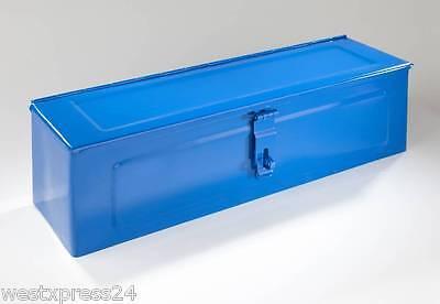 Werkzeugkiste aus Metall, abschließbar, Farbe: blau