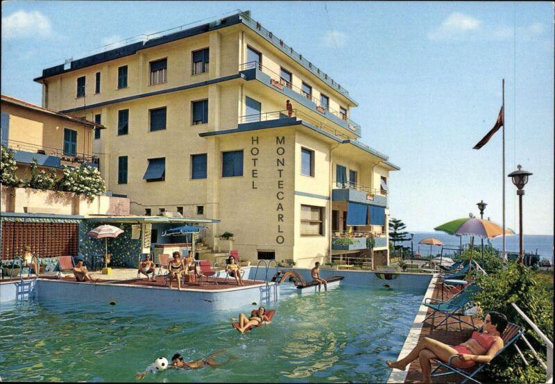 Postcard Ak Unused Coloured Spain Hotel Montecarlo Sanremo