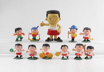 Trimm Dich === 11 x Werbefiguren Sportler Figuren Heimo