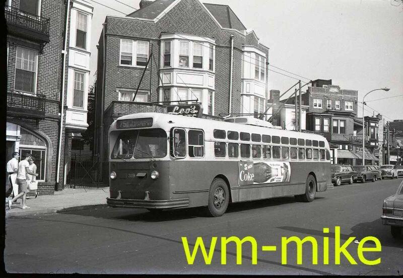 #A-937 - trolley - PTC Philadelphia Trans Co electric bus ORIGINAL B&W Negative