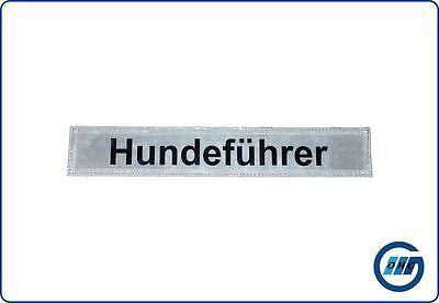 """Rückenschild DRK Rettungsdienst """"Hundeführer"""" mit Klett 30 x 5cm"""