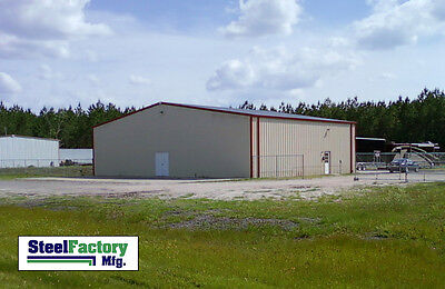 Steel Factory Mfg Prefab 25x50x10 Beam Frame Garage Building Materials Kit