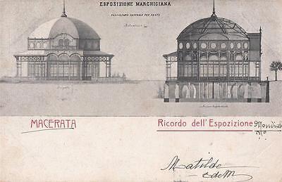 A5169) MACERATA 1905 RICORDO ESPOSIZIONE, IL PADIGLIONE CENTRALE PER FESTE. VG