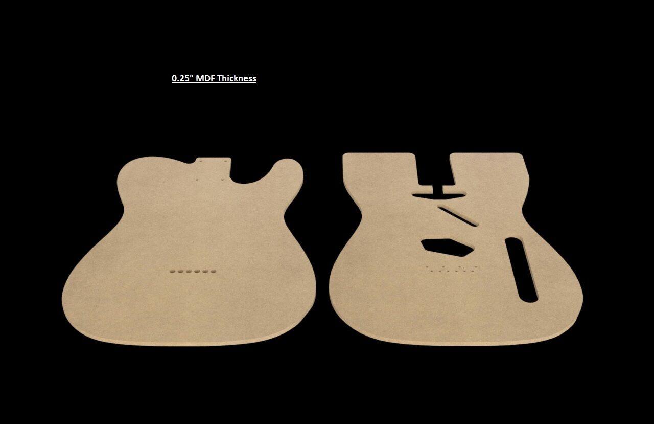Telecaster Mdf Guitar Body Template 025 Thickness Cnc Made Tele