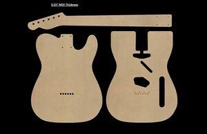 Telecaster MDF Guitar Body and Neck Template 0.25
