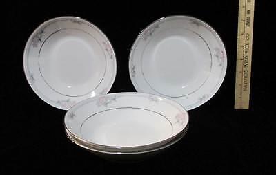 Bowls Noritake Legendary Tarkington Set 4 Pink Floral Soup Cereal 3695 7 1/2