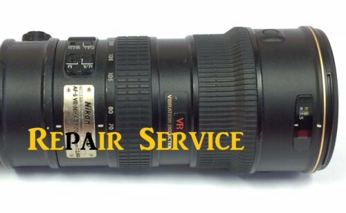 Repair service for Nikon 70-200mm f/2.8 G VR I Lens