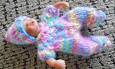 """Doll Clothes Multicolor Outfit footed hand made for ooak sculpted baby 4.5"""" 5"""""""