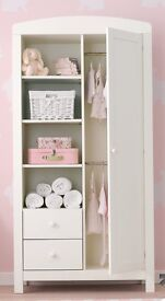 MOTHERCARE PADSTOW PORCELAIN WHITE WARDROBE