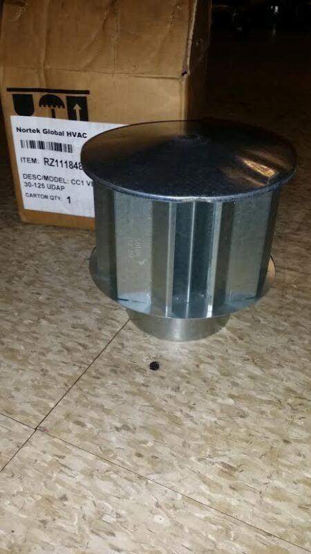 """NORTEK GLOBAL HVAC CC1 VENT CAP 4"""" 30-125 UDAP"""