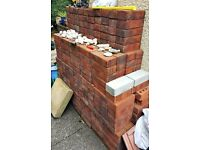 APPROX 450 BRAND NEW BRICKS - PLUS FREE BROKEN/USED BRICKS IF WANTED