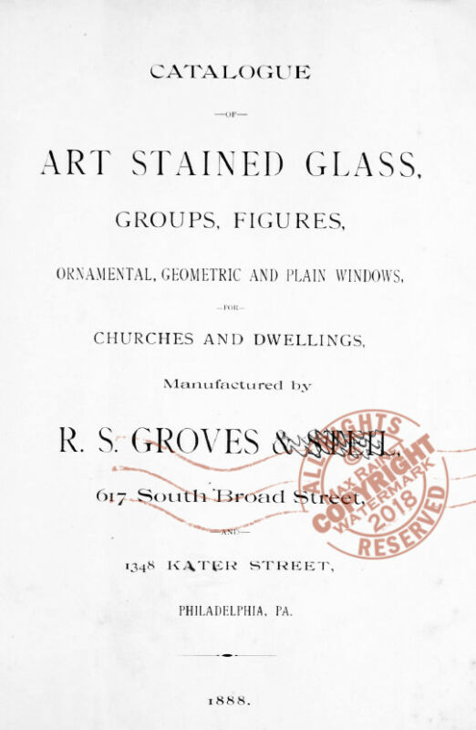 Groves Steil (1888) CATALOG Art Stained Glass Window Figures Ornamental Churches