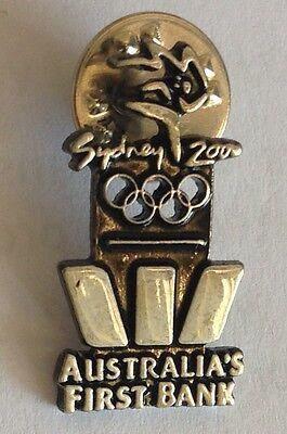 Sydney 2000 Westpac Bank Sponsor Olympics Pin Badge Rare Vintage  F3