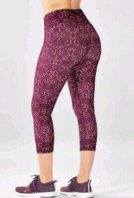 fabletics salar powerlite amara capri gym fitness yoga leggings pants M uk12 NEW