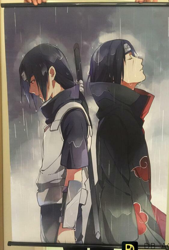 Japan Anime Naruto Uchiha Itachi Poster Home Wall Scroll