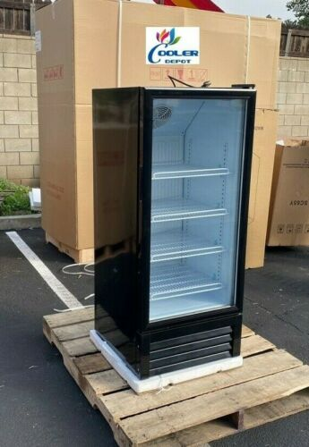 "NEW 51"" Tall Glass Front Refrigerator Cooler Display Beverage Merchandiser NSF"