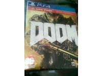 Ps4 Doom Uac Pack Brand New Sealed - game,handbook,poster and fabric patches