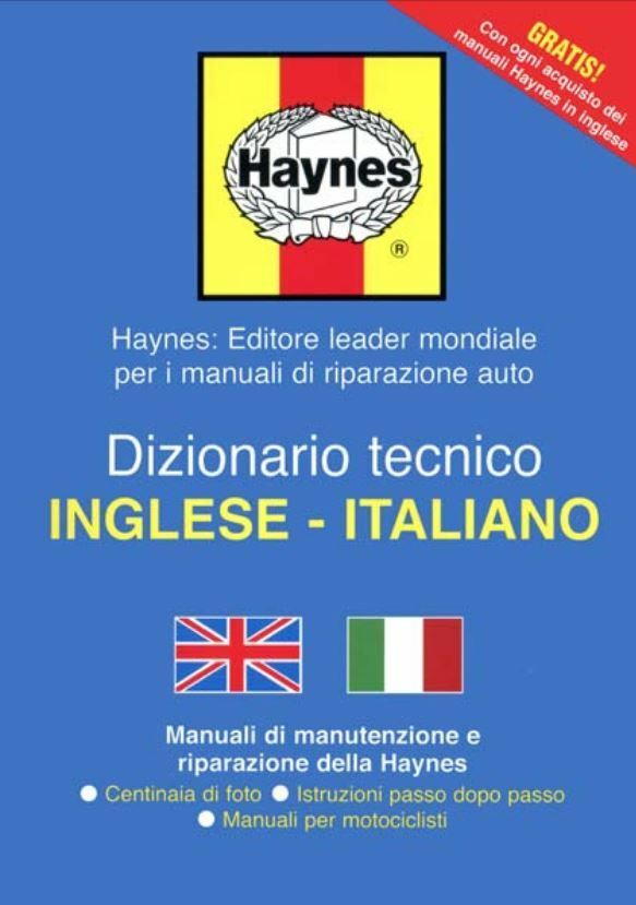 HAYNES TECHNICAL ENGLISH TO ITALIAN DICTIONARY MANUAL GUIDE TRANSLATOR WORKSHOP