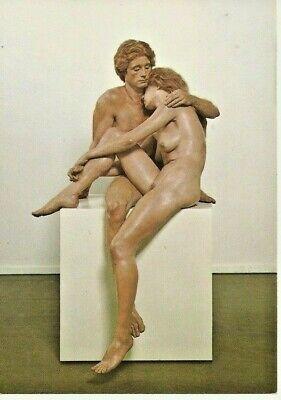 "Postcard John DeAndrea ""Man & Woman"" Polyvinyl Polychromed in Oil, 1981  NrMINT"