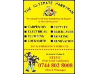 THE ULTIMATE HANDYMAN #FREE QUOTE # ELECTRICIAN, CARPENTER, PLUMBER, REFURBISHING, CCTV/TV, PAINTER