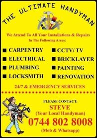 The Ultimate Handyman:-Electrician,Carpenter,Plumber,Welder, CCTV,Painter,Bricklayer & Refurbishment