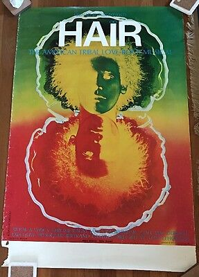Original Theatre Theater Poster from Broadway Play Musical HAIR, 1968