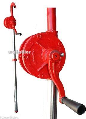 55 Gallon Drum Rotary Hand Pump New Oil Fuel Barrel Heavy Duty