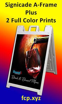 Signicade A-frame Plastic Plus 2 Custom Full Color Laminated Printsinserts
