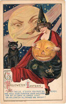 John Winsch Halloween (HALLOWEEN POSTCARD, JOHN WINSCH, SAMUEL SCHMUCKER, COPYRIGHT)